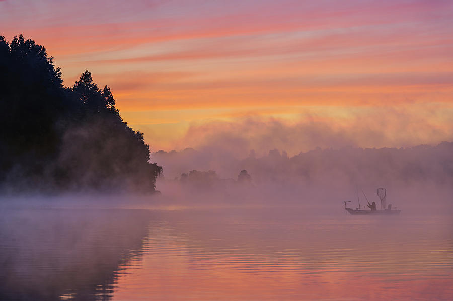 Marsh Photograph - Morning Fishing by ??? / Austin