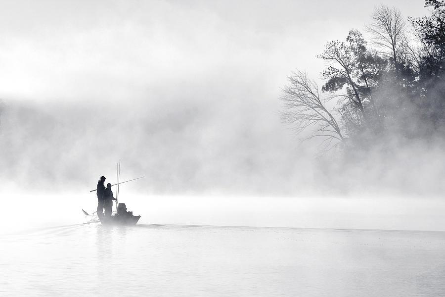 Morning Photograph - Morning Fishing 5 by Eric Zhang