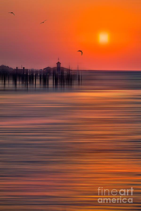 Sunrise Photograph - Morning Flight - A Tranquil Moments Landscape by Dan Carmichael