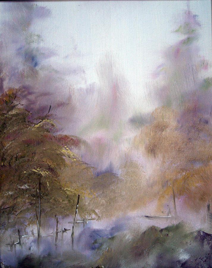 Morning Painting - Morning Fog by Alena Samsonov