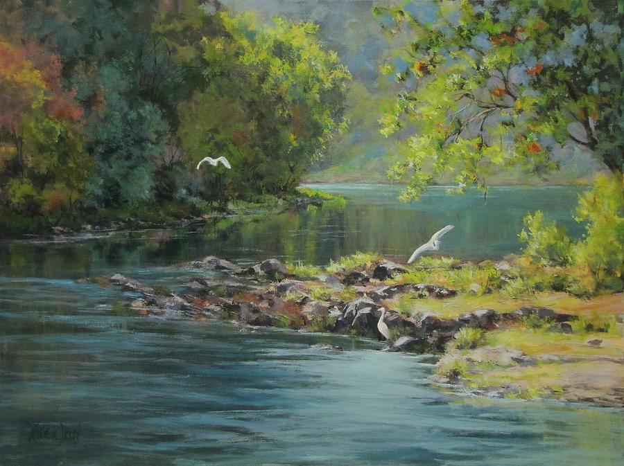 Acrylic Painting - Morning Gathering by Karen Ilari
