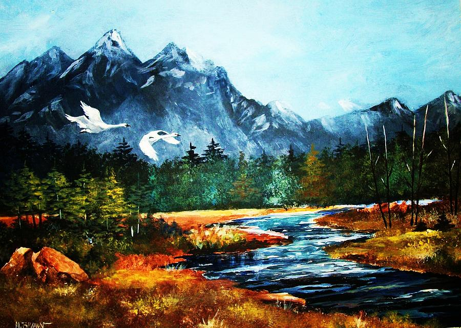 Landscapes Painting - Morning Gliders by Al Brown