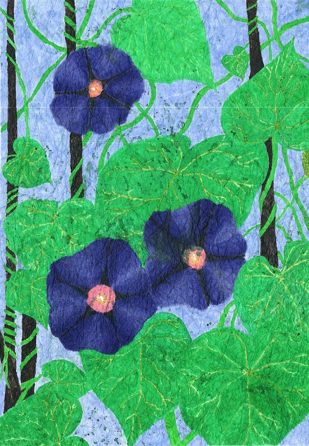 Morning Glories Painting - Morning Glories by Maxwell Hanson