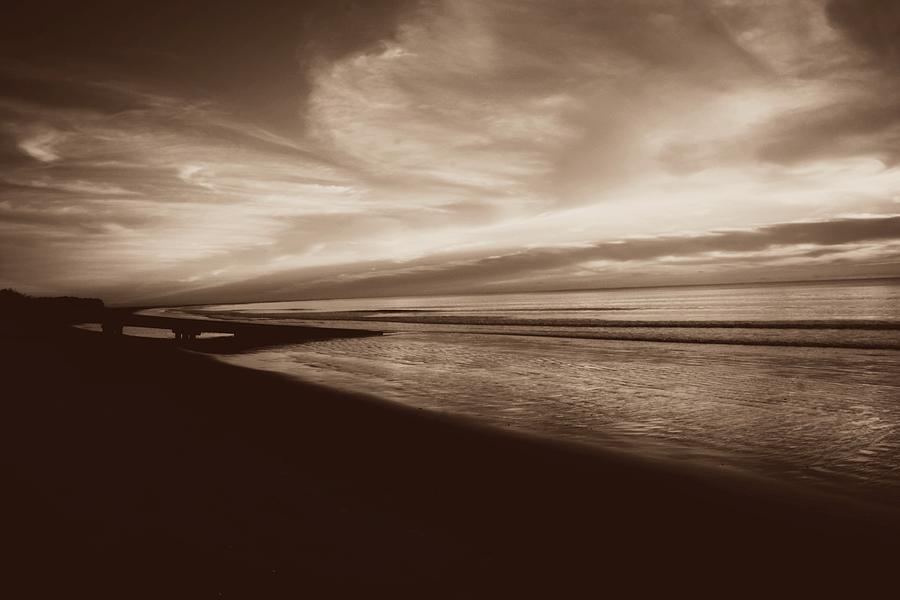 Sepia Photograph - Morning Glory by Debbie Howden