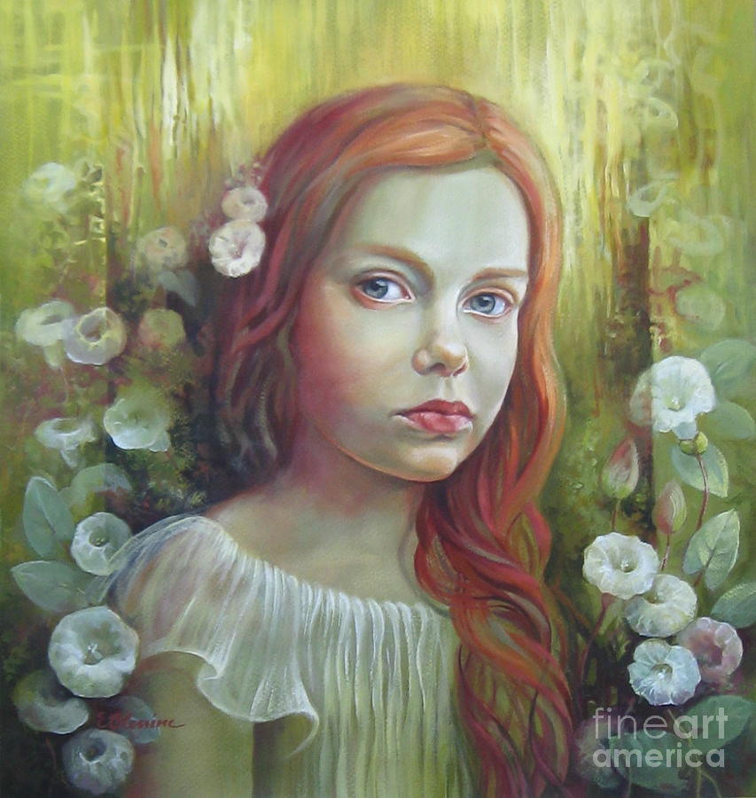 Portrait Painting - Morning Glory by Elena Oleniuc