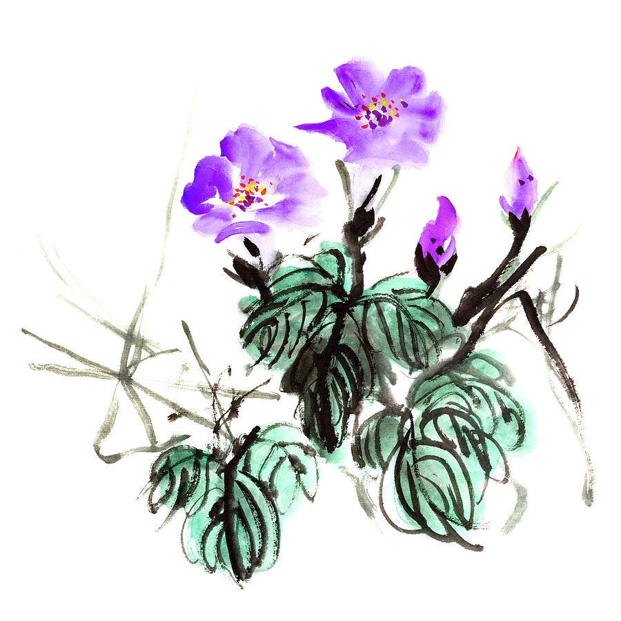 Morning Glory Flowers Digital Art by Vii-photo