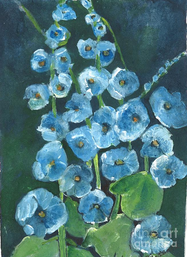 Orchards Painting - Morning Glory Greetings by Sherry Harradence