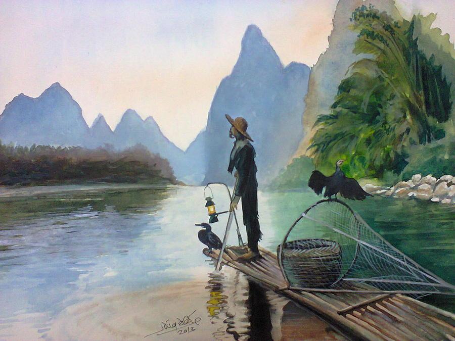 Landscape Painting - Morning by Gourav Sheode