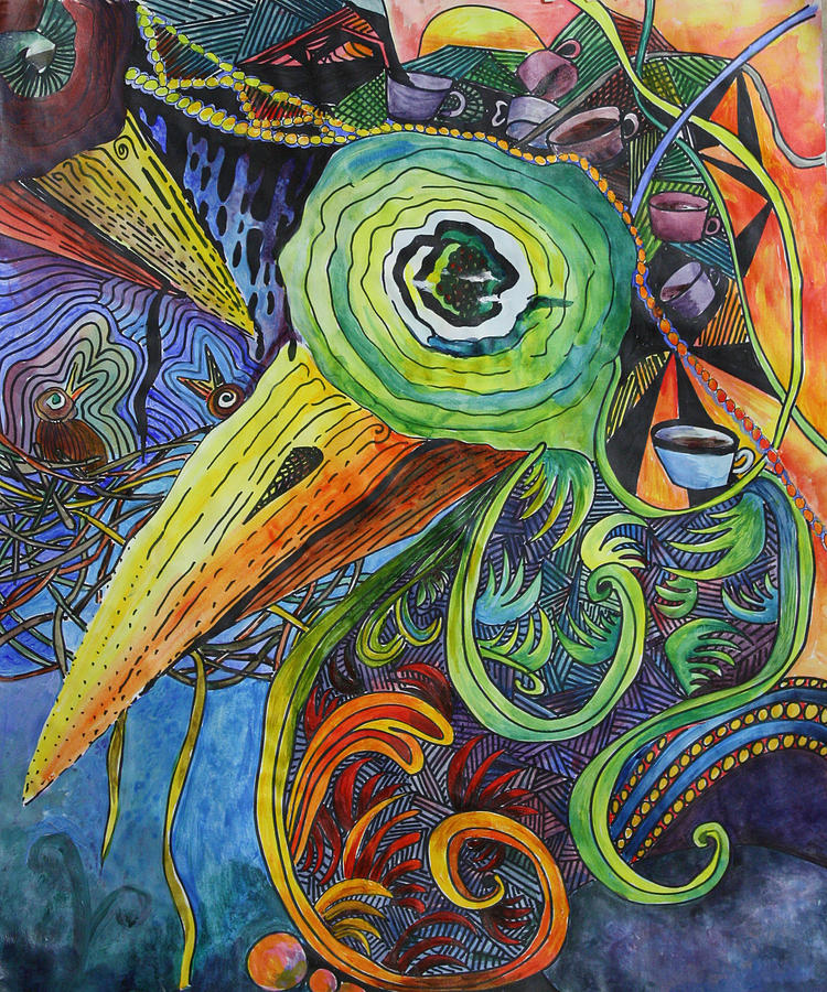Zentangle Painting - Morning Has Broken by Mary Beglau Wykes