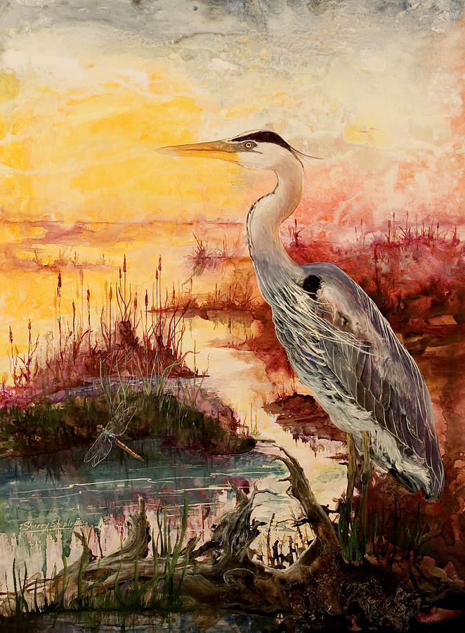 Sunrise Painting - Morning Has Broken by Sherry Shipley