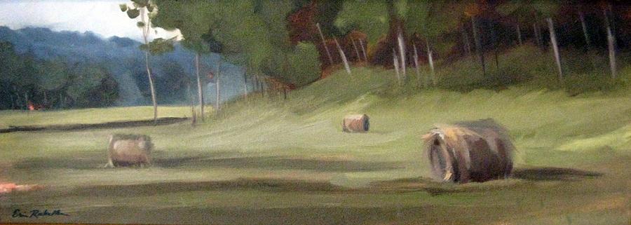 Nashville Painting - Morning Hay by Erin Rickelton