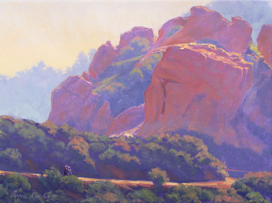 Painting Painting - Morning Hike Cathedral Rock by Elena Roche