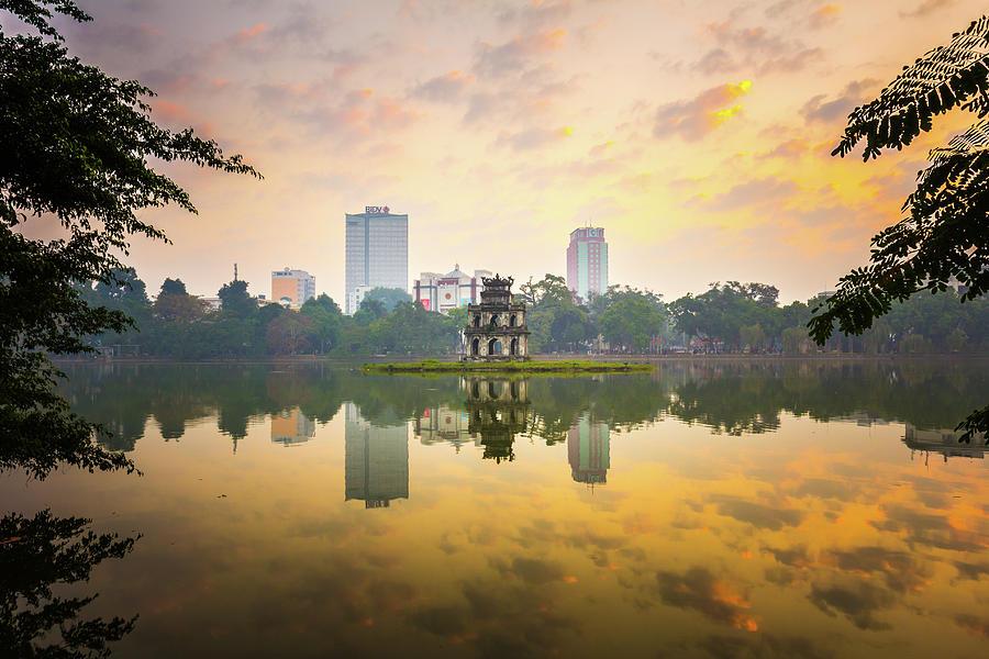 Morning In Hoan Kiem Lake Of Hanoi Photograph by Spc#jayjay