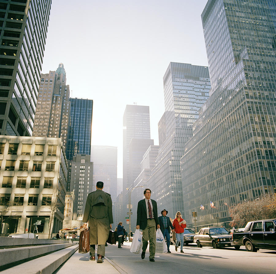 New York Photograph - Morning In Manhattan by Shaun Higson