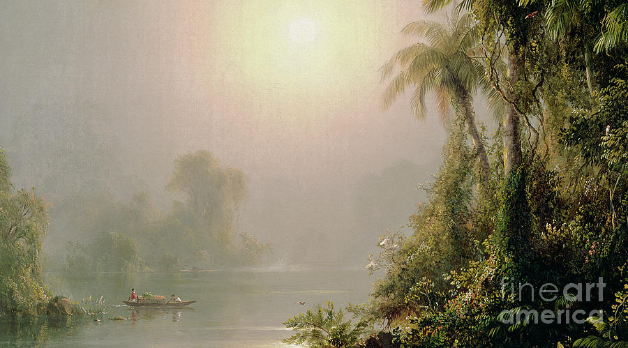 Edwin Painting - Morning In The Tropics by Frederic Edwin Church