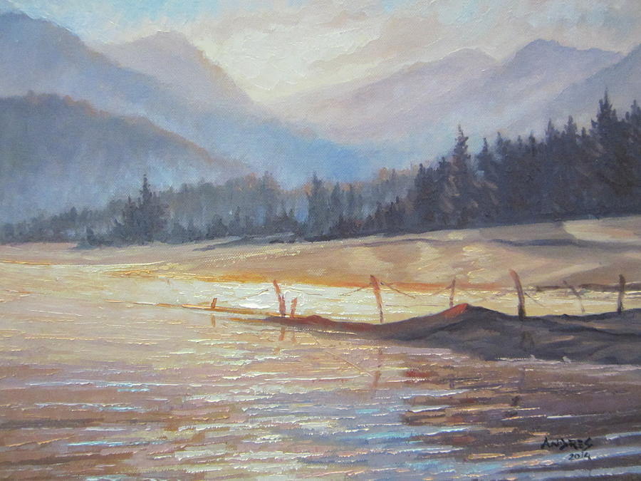 Lake Painting - Morning Lake by Andrei Attila Mezei
