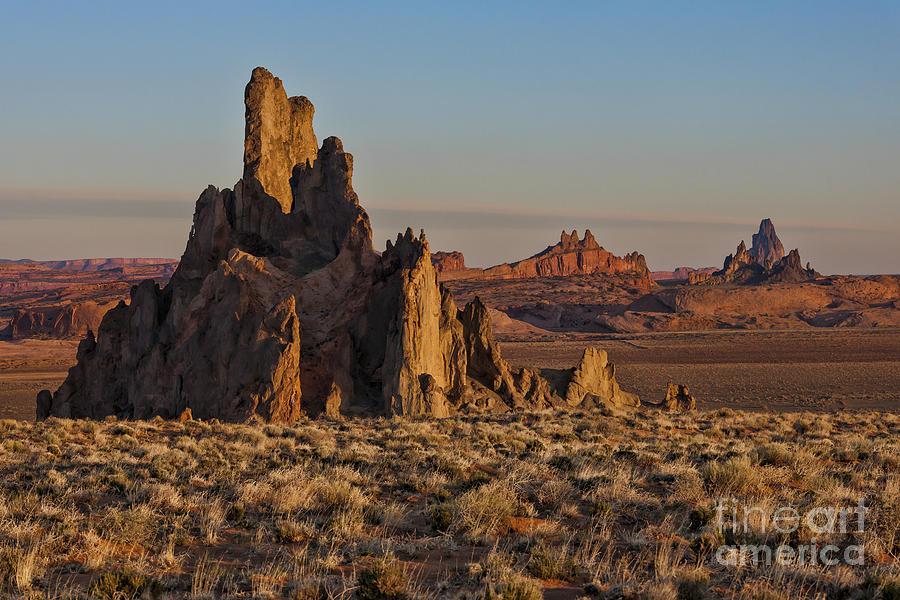 Southwest Photograph - Morning Light At Church Rock by Sandra Bronstein