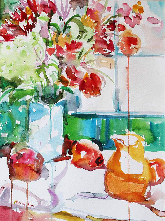 Floral Painting - Morning Light by Becky Kim