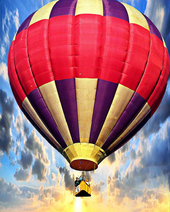 Hot Air Balloons Digital Art - Morning Light by Ken Evans