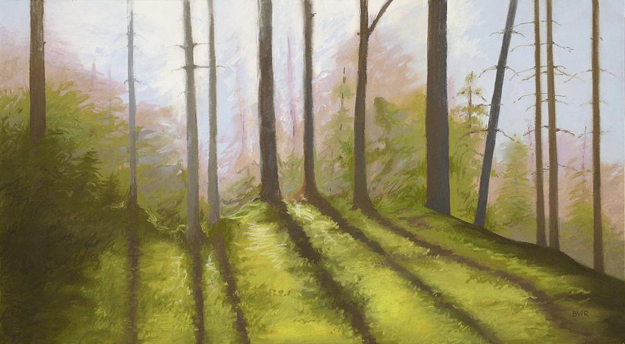 Landscape Pastel - Morning Light On The Ledge by Bruce Richardson