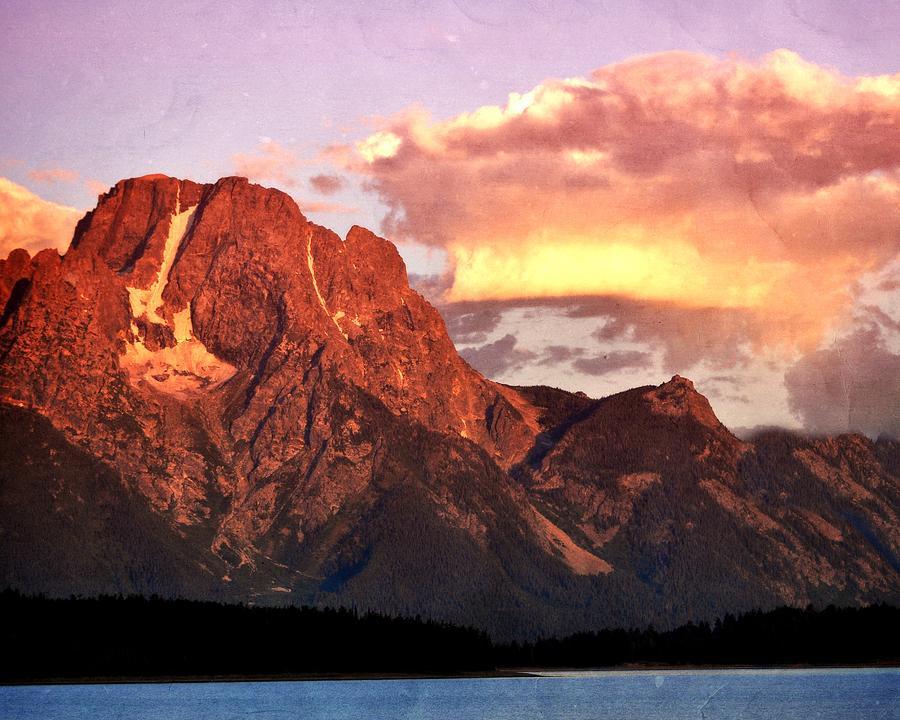 Sunrise Photograph - Morning Light On The Tetons by Marty Koch