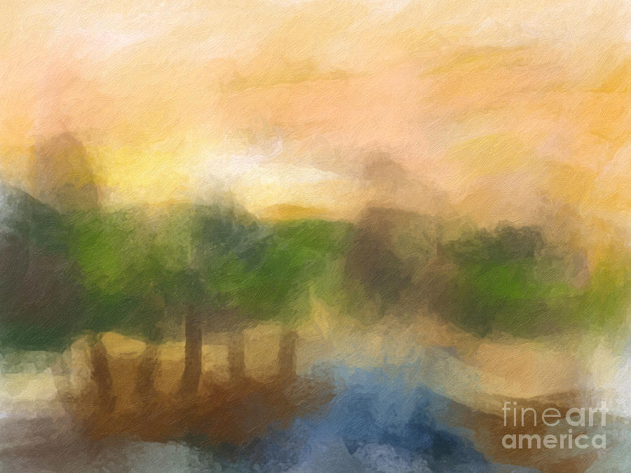 Morning Light Painting - Morning Light Painting by Lutz Baar