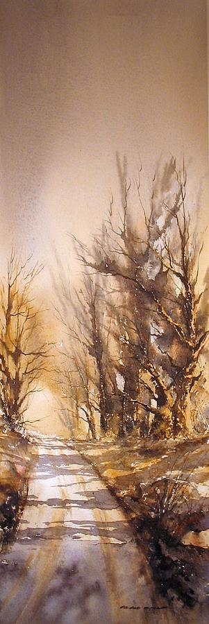 Landscape Painting - Morning Light by Roland Byrne