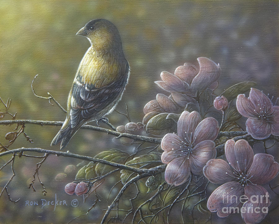 Nature Painting - Morning Light by Ron Decker