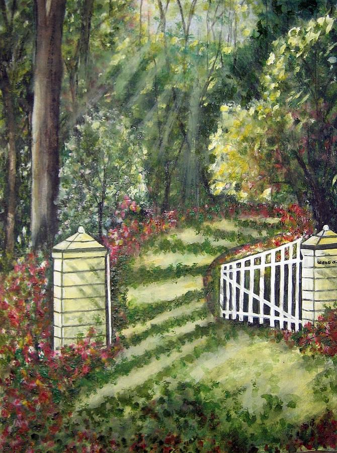 Landscape Painting - Morning Light by Usha Rai