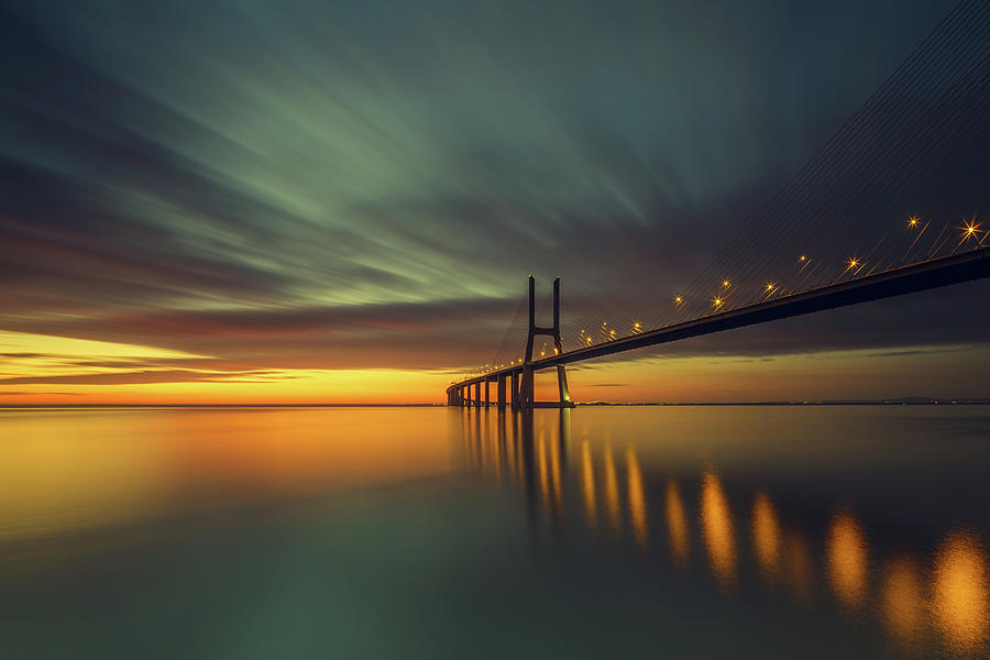 Portugal Photograph - Morning Lights by Thomas Siegel