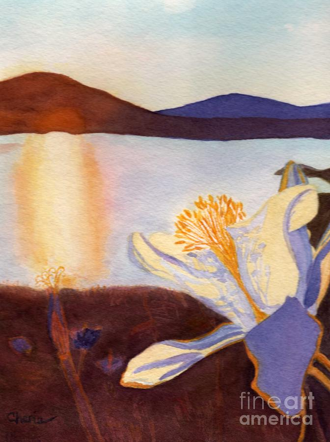 Columbine Painting - Morning Mesa Columbine by Vikki Wicks