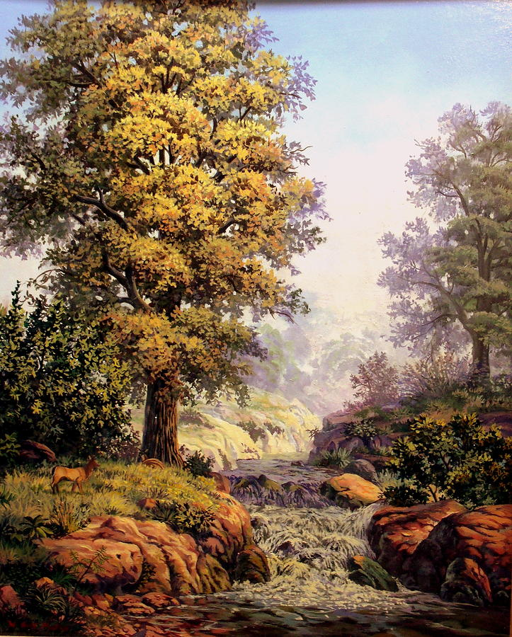 Nature Painting - Morning Mist by W  Scott Fenton