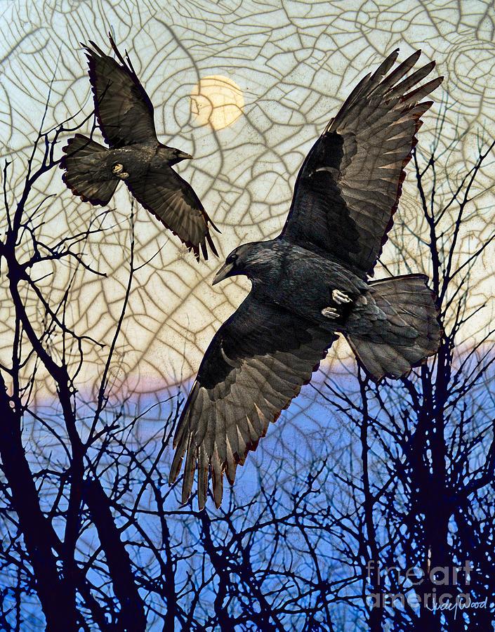 Ravens Digital Art - Morning Mists by Judy Wood