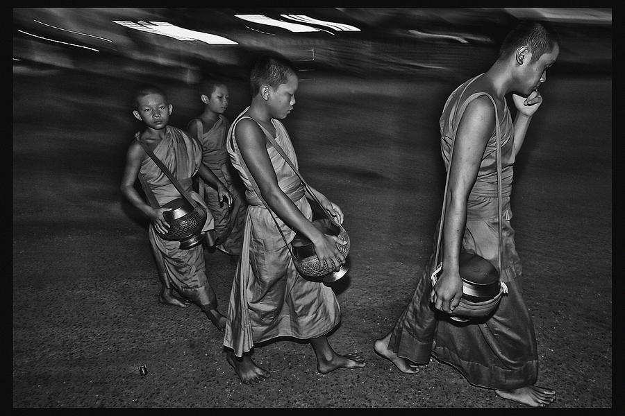 Thailand Photograph - Morning Monks by David Longstreath