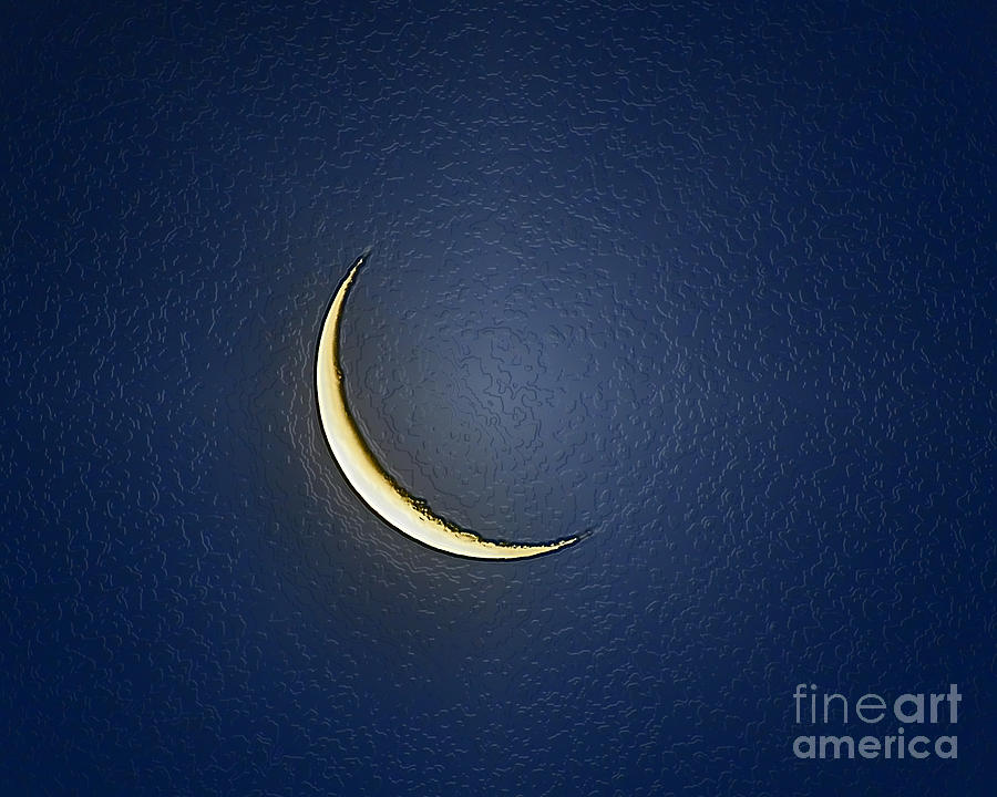 Moon Photograph - Morning Moon Textured by Al Powell Photography USA