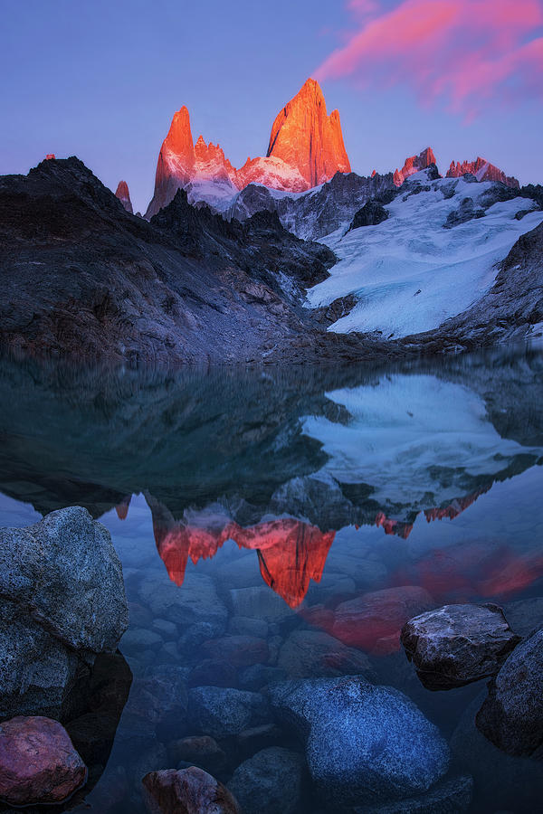 Patagonia Photograph - Morning Of Tranquility by Yan Zhang