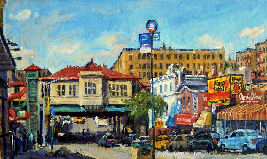 Oil Painting - Morning on 231st Street The Bronx by Thor Wickstrom