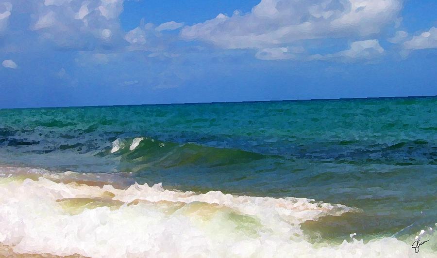 Florida Digital Art - Morning On Boynton Beach 2 by Shawn Lyte