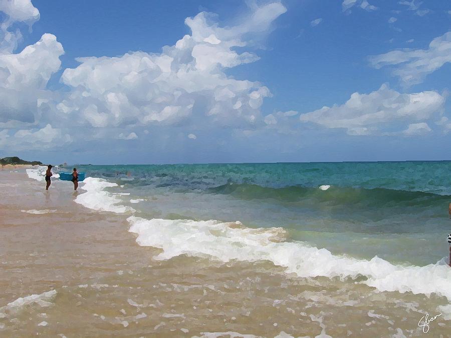 Florida Digital Art - Morning On Boynton Beach 5 by Shawn Lyte