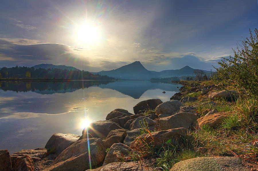 Lakes Photograph - Morning on Lake Estes by Perspective Imagery