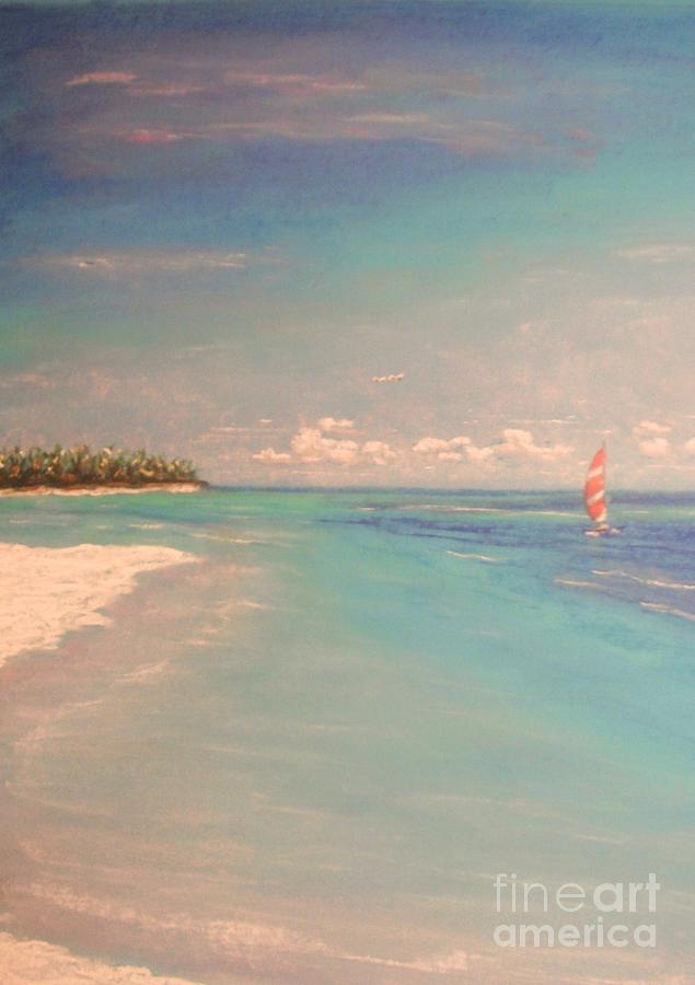 Tropical Painting - Morning On The Beach by The Beach  Dreamer