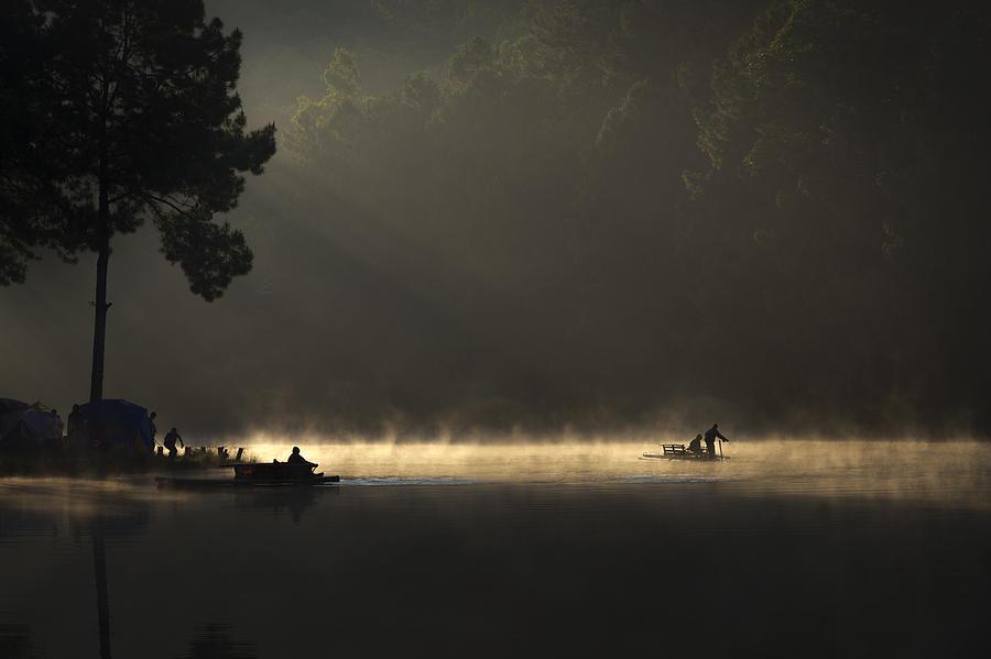 Thailand Photograph - Morning On The Lake by Tippawan Kongto