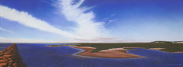 Cape Cod Pastel - Morning on the Province Lands Provincetown by Anthony Petchkis