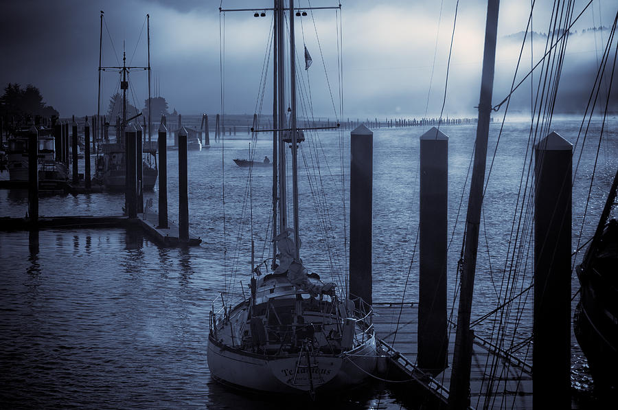 Sail Boat Photograph - Morning On The Siuslaw by Michael Connor