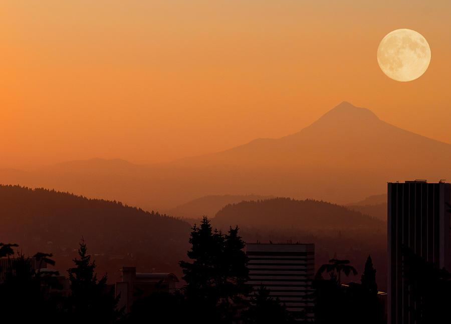 Portland Photograph - Morning Over Portland by Don Schwartz