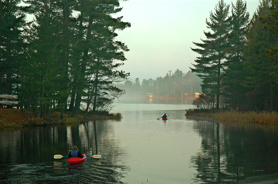 Kayaks Photograph - Morning Paddle by RJ Martens