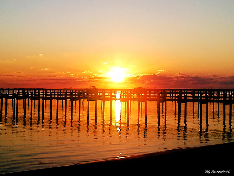 Landscape Photograph - Morning Pier by Marty Gayler
