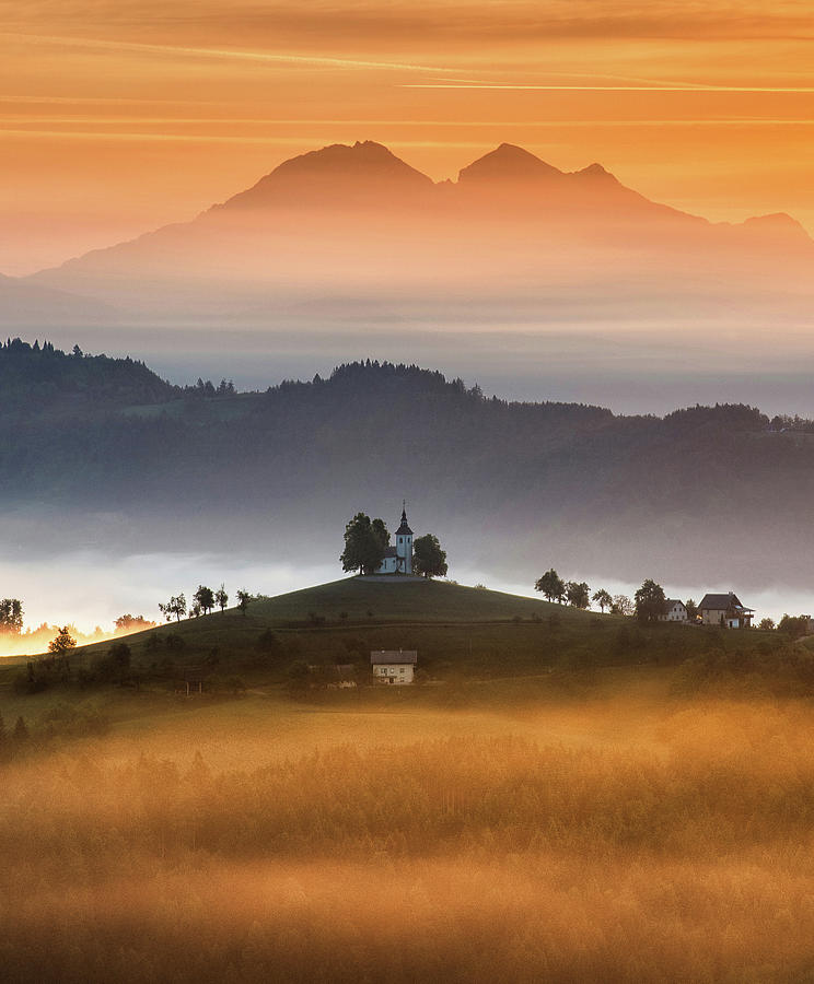 Church Photograph - Morning Rays by Ales Krivec