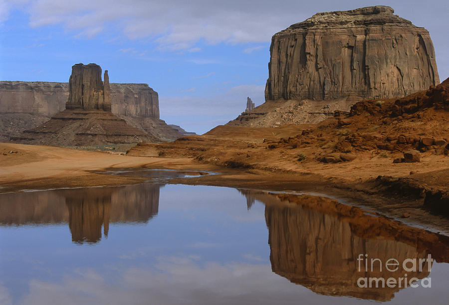Southwest Photograph - Morning Reflections In Monument Valley by Sandra Bronstein