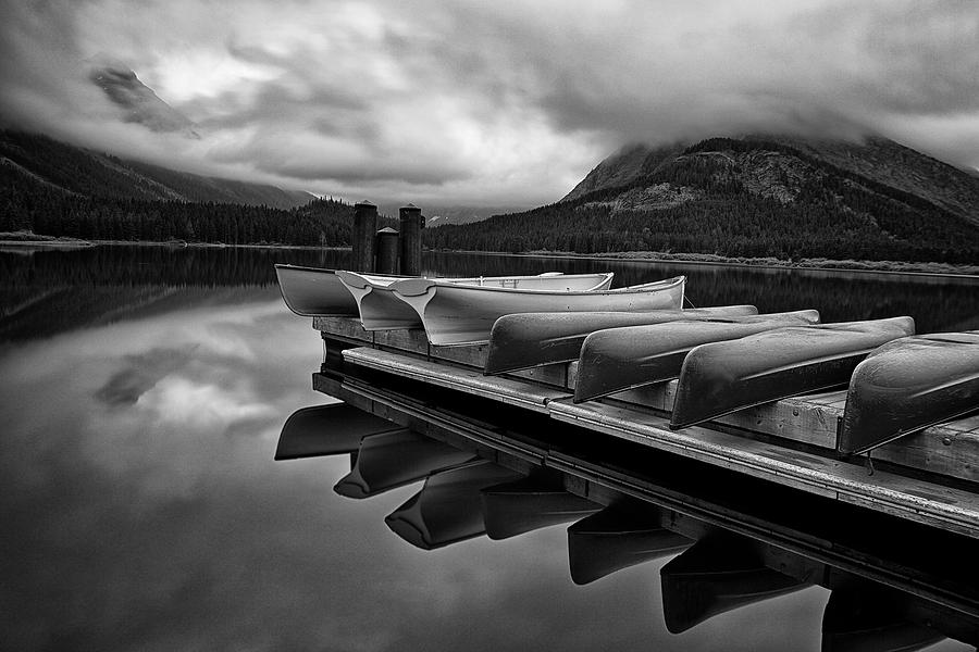 Boat Photograph - Morning Rest by Andrew Soundarajan